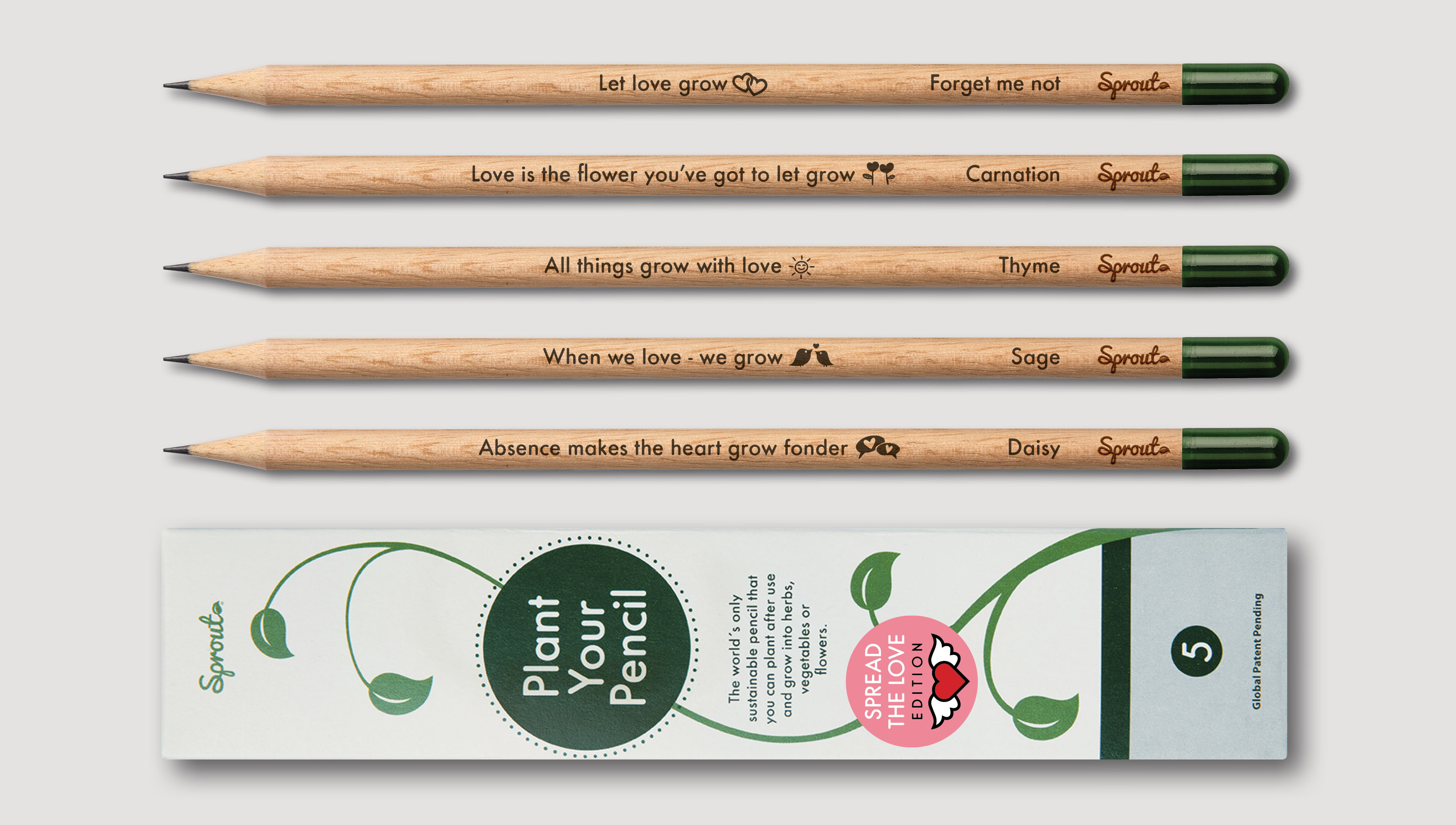Personalised pencils from Sprout