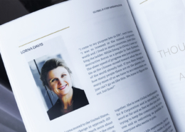Lorna Davis shares her story in the Paper on the Rocks B Inspired notebook
