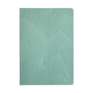 Teal Softcover Leafbook tree-free notebook agricultural waste