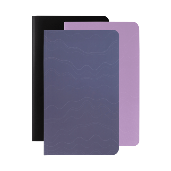 black mauve violet softcover rockbook set