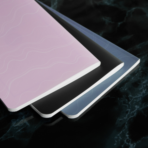 Mauve Violet Black Softcover Rockbook Set 2
