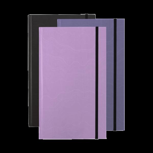 Mauve Violet Black Hardcover rockbook set