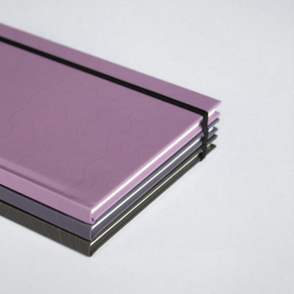 Close-up Mauve Violet Black Hardcover Rockbook Set