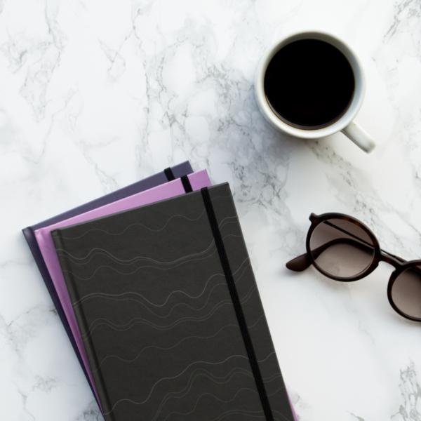Mauve Violet Black Hardcover Rockbook Set 2