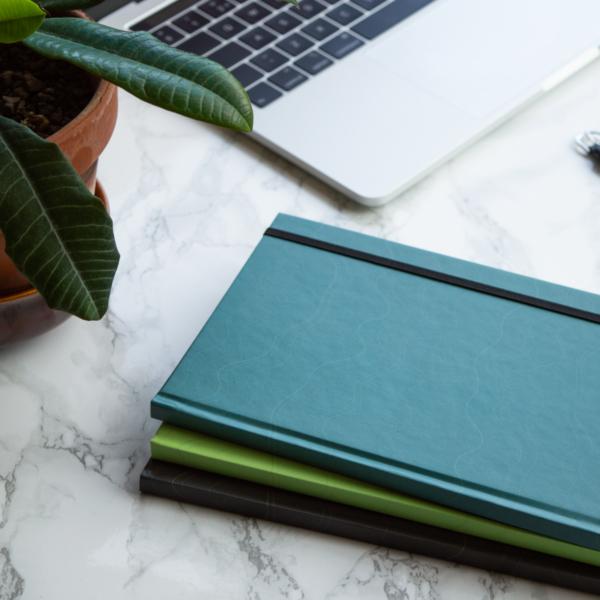 Mint Turquoise Slate Hardcover Rockbook Set 2