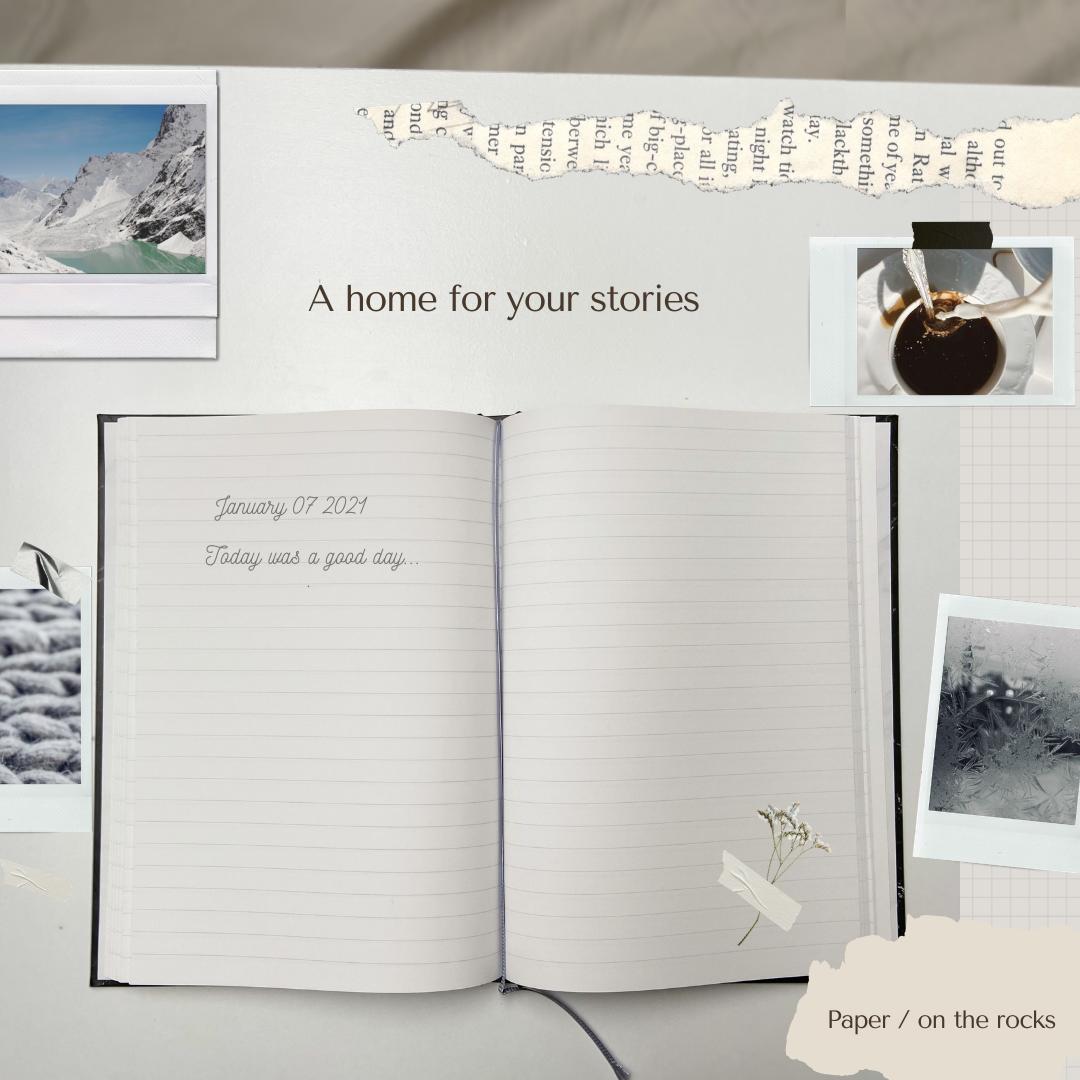 flatlay of a journal to start journaling